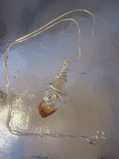 Wire Wrapped Rock Pendant