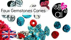 Tutorial Faux Stone Canes with Polymer Clay | Turquoise, Red Jasper, White Marble | ENG - YouTube