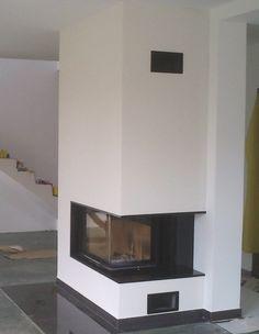 kominek nowoczesny narożny Stove Fireplace, Exterior Design, Interior Inspiration, Stoves, Fireplaces, House, Decoration, Home Decor, Fireplace Set