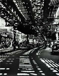 Division Street underneath the el, 1941 Andreas Feininger
