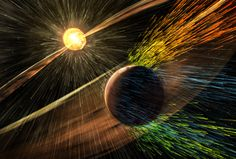 A high energy solar storm hitting Mars