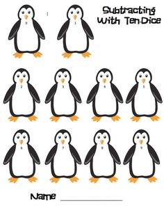 Here's a penguin themed game to practice subtraction facts.