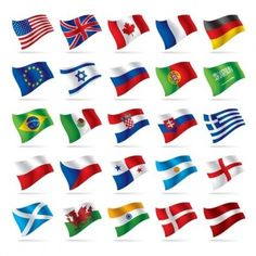 World National Flag Vectors Vector misc - Free vector for free download