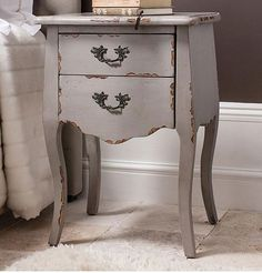 2 Drawer Small Cabinet Warm Grey