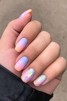 108 cute nail art designs for short nails 2019 11 Cute Nail Art Designs, Cute Summer Nail Designs, Ombre Nail Designs, Colorful Nail Designs, Colorful Nails, Round Nail Designs, Maroon Nail Designs, Beach Nail Designs, Summer Design