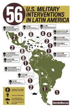 """u.s.-military-in-latin-america... And then there are the American Corporation monopolies in Latin America ala United Fruit Co... And yet they STILL trip about so-called """"illegal"""" immigration... Mas Putos!"""