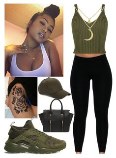"""I know you know how to make me jealous "" by aaliyahlee ❤ liked on Polyvore featuring WearAll, NIKE and Yoki"
