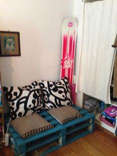 Palettensofa Furs Wohnzimmer DIY Sofa Einrichtung Einrichtungsidee