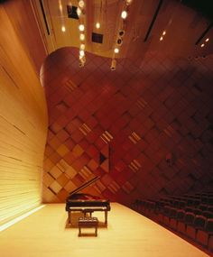 "To express the essence of Yamaha's brand, Japan's leading general musical instrument manufacturer, and materialize its architectural design, the basic themes of this architecture are set out to be ""a building that exudes the feel of sound and music"" and ""the union of tradition and innovation""."