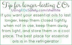 Tips for longer-lasting EOs