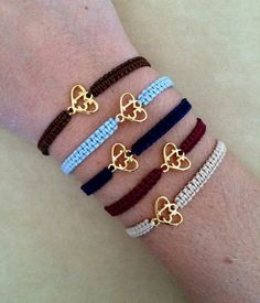 2015 Gold Plated Heart Lucky Charm Macrame by IzouBijoux on Etsy Handmade Friendship Bracelets, Happy New Year Greetings, Lucky Charm, Macrame, Charmed, Jewellery, Trending Outfits, Heart, Unique Jewelry