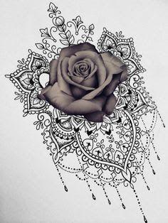 Resultado de imagem para Mandala rose Flower sleeve