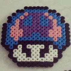 Poison mushroom hama perler beads by optimusmaster