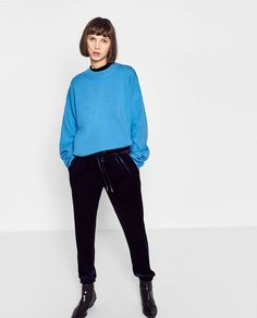 ZARA - WOMAN - VELVET JOGGING TROUSERS