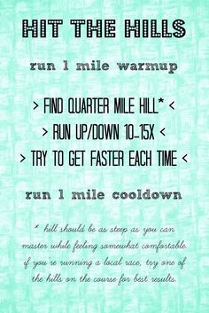 Hit the Hills // A Workout -- secret weapon for getting FAST without speedwork.// neverhomemaker