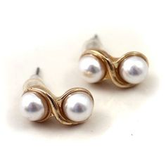 NEW ARRIVAL Brand double golden pearl texture Earrings DC4E501 $1