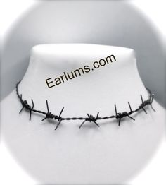 Handmade Barbed Wire Necklace Choker. $13.99, via Etsy.