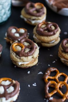 Peanut Butter Stuffed Chocolate Covered Pretzel Cookies 'N' Cream | halfbakedharvest.com