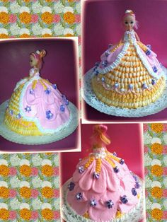 Princess cake decorated with whipped cream