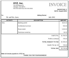 construction company invoice sample – notators, Invoice templates