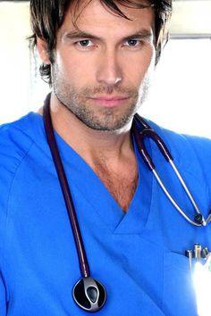 Rafael Amaya - taking a sick day tomorrow. Doctor Scrubs, Hot Doctor, Male Nurse, Scruffy Men, Feeling Sick, Feeling Faint, Men In Uniform, Hazel Eyes, Interesting Faces