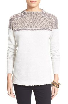 Free People 'Snow Bunny' Pullover available at #Nordstrom