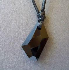 Колие с черен кристал Сваровски   Фея