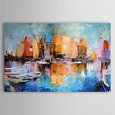 olej malarstwo abstrakcyjne jeden tysięcy trzysta cztery-ab0455 ręcznie malowane płótno – USD $ 69.99