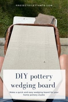 Wedging clay is essential no matter where you do pottery. If you're at home, you need a smaller option. This is the pottery wedging board diy for you! Pottery Kiln, Pottery Handbuilding, Pottery Tools, Ceramic Pottery, Thrown Pottery, Pottery Wheel Diy, Pottery Vase, Clay Studio, Ceramic Studio