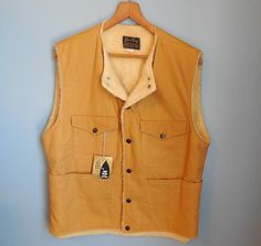 Vintage 70s MENS HUNTING VEST / sherpa lined vest / happy hunting / by NorthOfMain