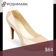 """BRAND NEW MARC FISHER PLATFORM PUMPS NUDE, IN BOX BRAND NEW MARC FISHER PLATFORM PUMPS NUDE PATENT, IN BOX.                             Nothing says clean, fresh and elegant like a pair of platform pumps. Crafted in a neutral tone, this shoe is perfect from day to evening. 3.75"""" heel. 3/4"""" platform.  Size 7 Shoes"""