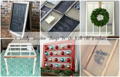 6 Totally Awesome Things To Do With Old Windows | A Diamond in the Stuff