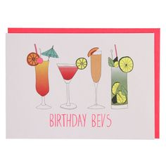 Birthday bevs birthday card