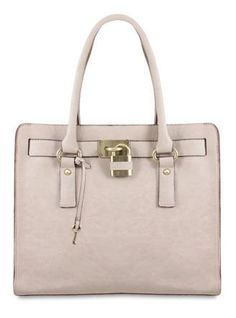 c846a80b2e Melie Bianco Angela Lock + Key Tote Bag Key Bag