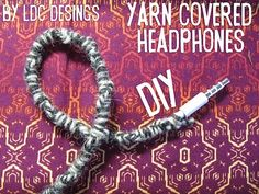 Yarn wrapped ear buds with instructions!