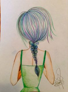 blue hair inspired by debbyarts // a.m.t.