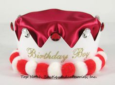 Boys Red Birthday Crown