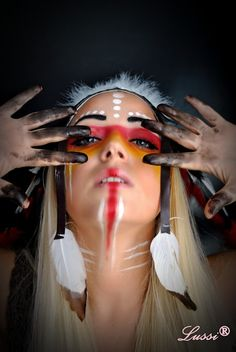 Lussi`s World of Artcraft: Хелоуин грим: Индианка / Halloween Make up: Native American Makeup