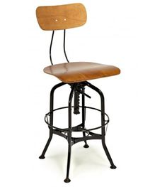 Toledo Style Swivel Bar Stool with Backrest, Black