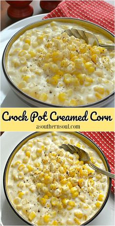 This rich, creamy corn with a hint of sweetness might just the the ultimate side dish. Not only is this creamed corn scrumptious, it's easy to make since the slow cooker does all the work! #recipes #corn #sidedish #loveit #crockpot #SlowCooker #food