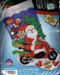 Diseño trabajos fieltro Navidad Media Kit NUEVO por ItsOurJoy