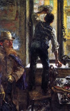 The Athenaeum - Early Morning in the Café (Adolph von Menzel - )