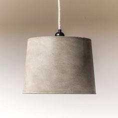 Handmade Industrial Concrete Pendant Lampshade
