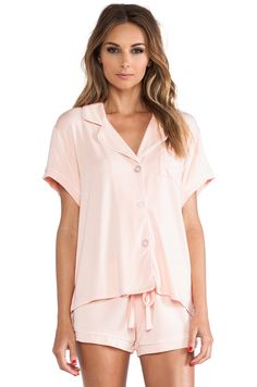 Wildfox Couture Sleeping In Classic PJ Set in Pink Pajamas All Day, Pajamas Women, Women's Pajamas, Sleepwear & Loungewear, Lingerie Sleepwear, Nightwear, Cute Pjs, Satin Pajamas, Pj Sets