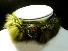 "collier ras de cou ""Mirror of jade"" : Collier par sand-angel"