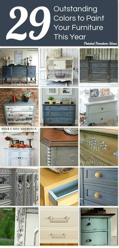 29 Outstanding Paint Colors to Paint Your Furniture This Year