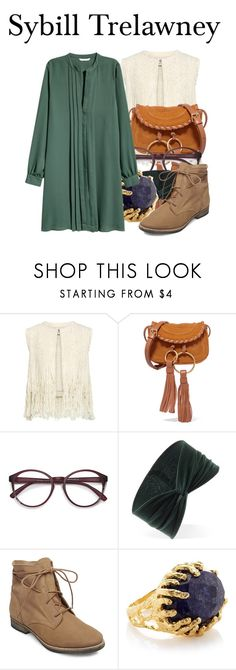 """""""Sybill Trelawney"""" by megan-vanwinkle on Polyvore featuring Sea, New York, See by Chloé, EyeBuyDirect.com, Forever 21, Steve Madden, Ottoman Hands, harrypotter and polyvoreeditorial"""
