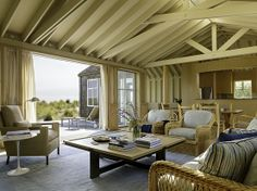 Semi enclosed porch idea.