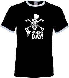 INDIVIDUELLES/COOLES MAKE MY DAY T-SHIRT FOR BIKER, LOWRIDER, ROCKER, EXPERTEN