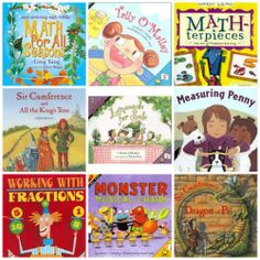Great books that explain math concepts in fun & memorable stories! Learn about fractions, equations, measurement and more all during story time. From Maher Maher Eames @ KC Edventures with Kids Math Literacy, Homeschool Math, Math Classroom, Kindergarten Math, Fun Math, Teaching Math, Math Activities, Teaching Time, Guided Math